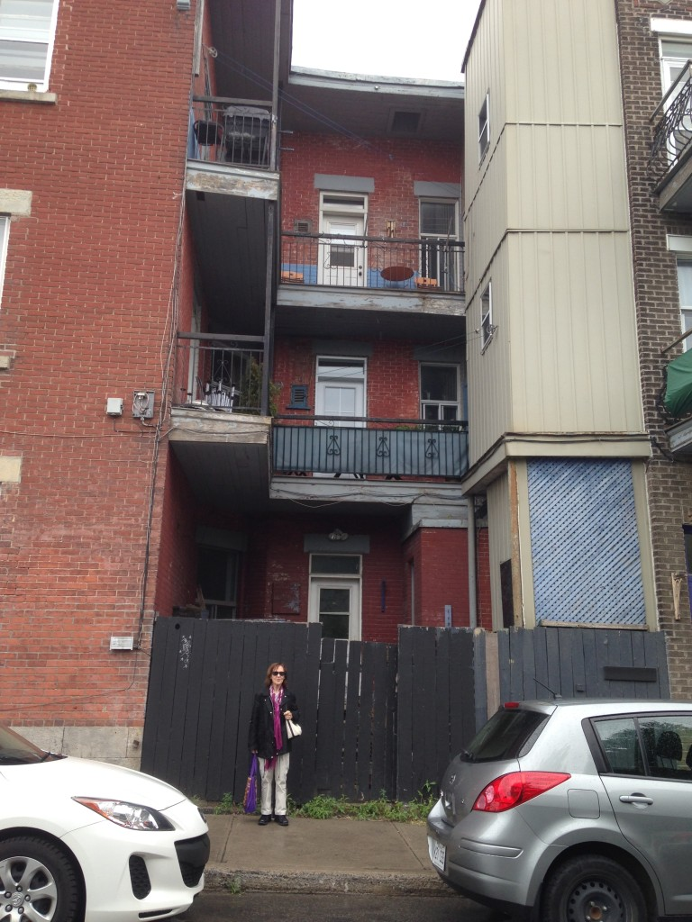 The 3rd floor balcony is where my mom, dad & brother, Bernie, lived when he was born, on rue St. Urbain