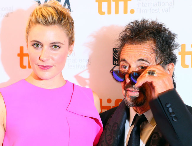 Al Pacino & Greta Gerwig walk the Red Carpet for The Humbling - Source: www.lfpress.com -REUTERS - Fred Thornhill