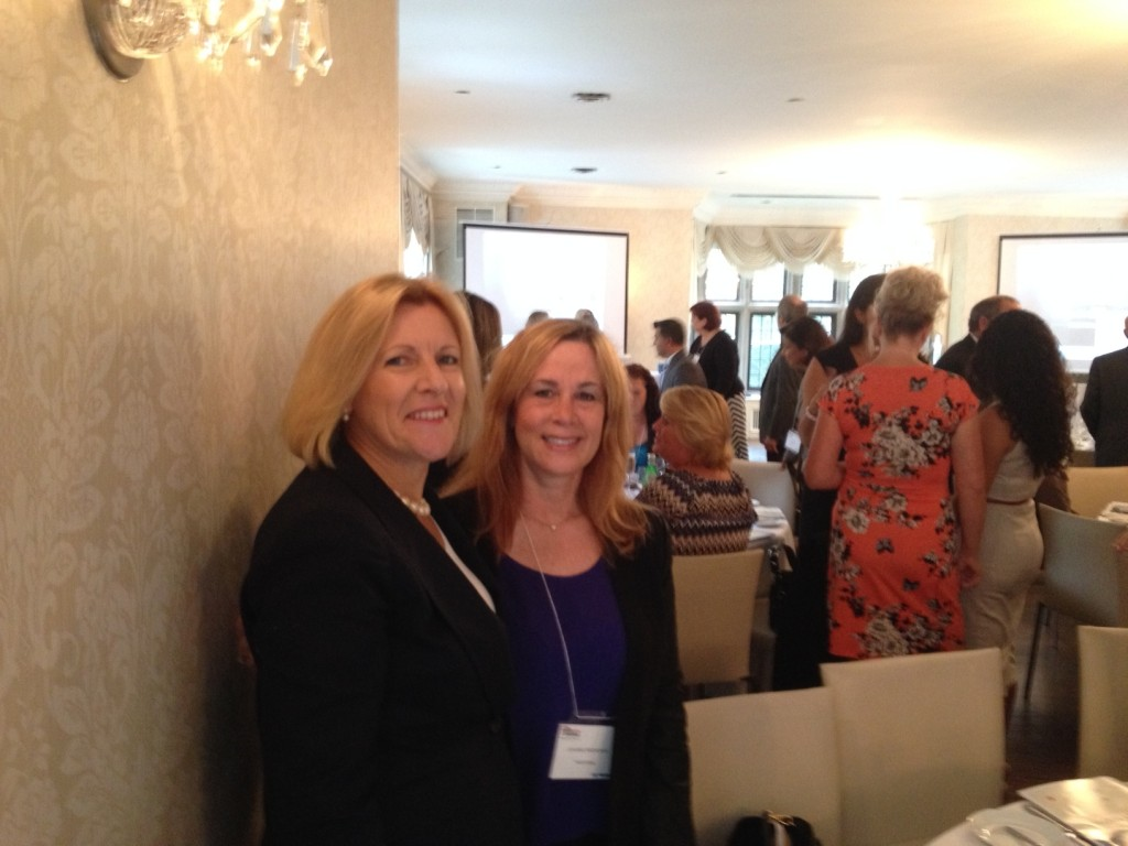 Laura Tsingos & Joanne Lebovits-Brodkin, of HighVail Systems Inc., at the 2014 CDN Women in the IT CHANNEL Recognition Luncheon