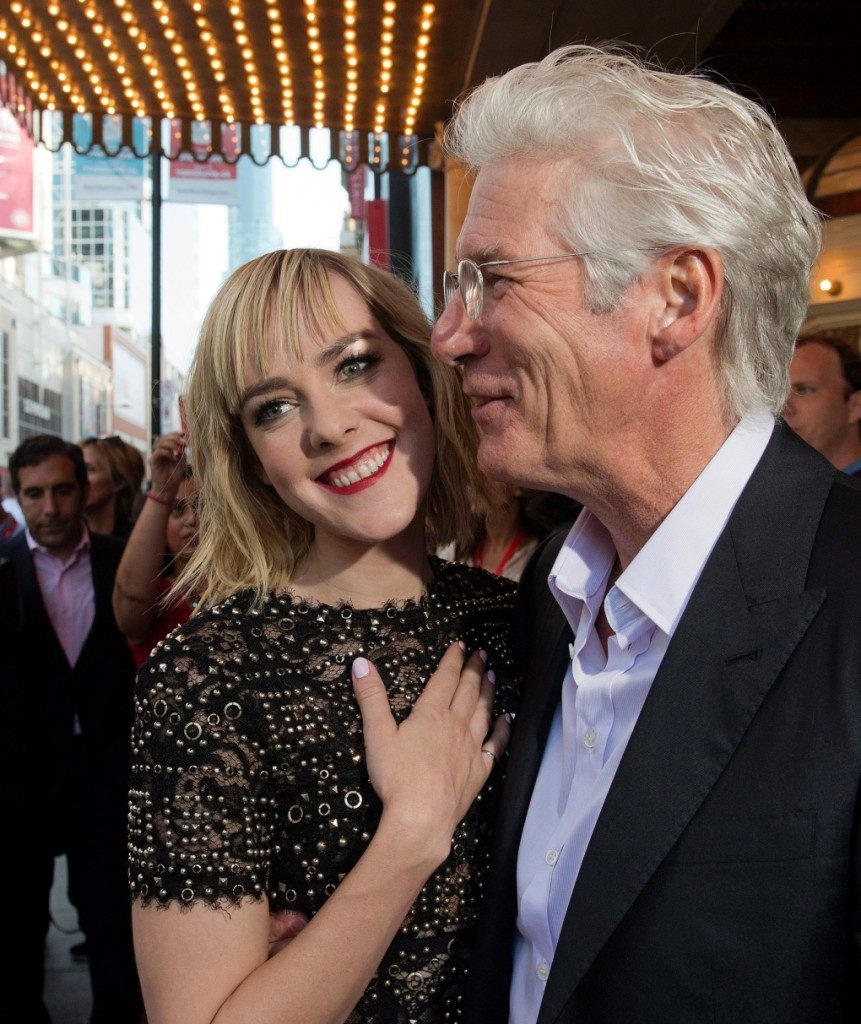 "Richard Gere &  Jena Malone, co-stars in ""Time Out of Mind"" - Source:THE CANADIAN PRESS/Frank Gunn"