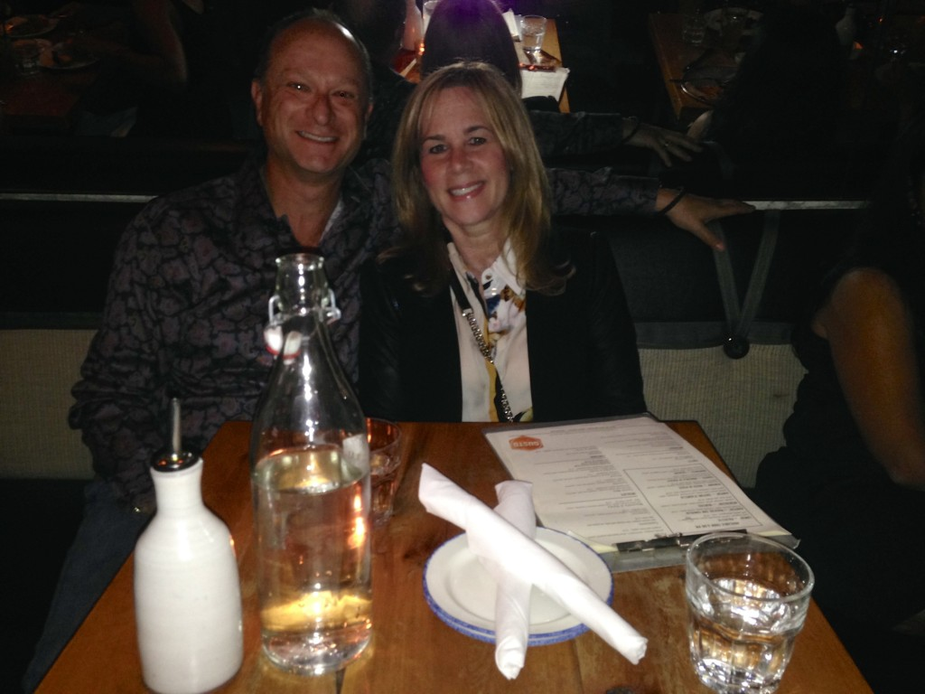 Bradley & I at Gusto 101 Restaurant, Toronto