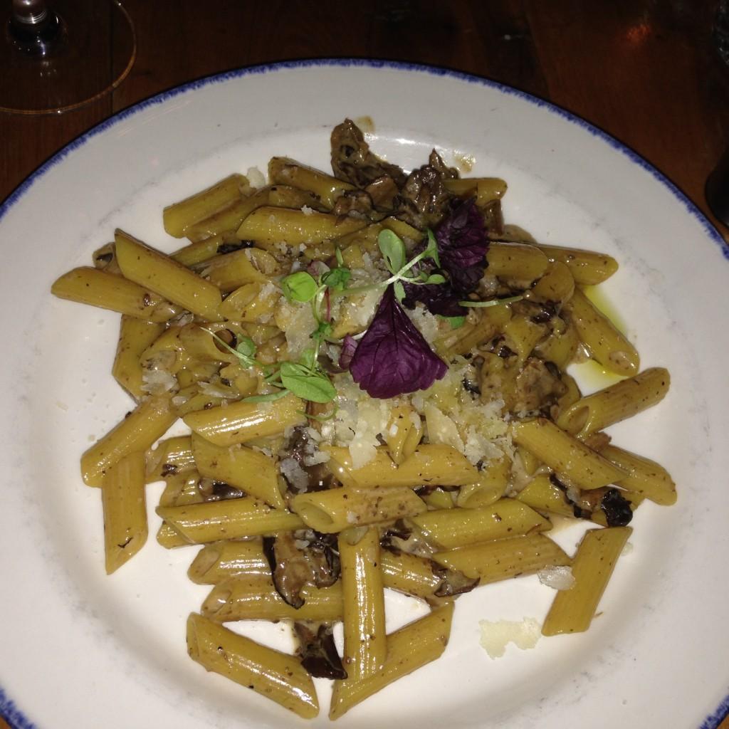 Gusto Italian Restaurant's Mafalde ai Funghi - portobello, porcini, oyster mushrooms, truffle, cream sauce with gluten-free penne