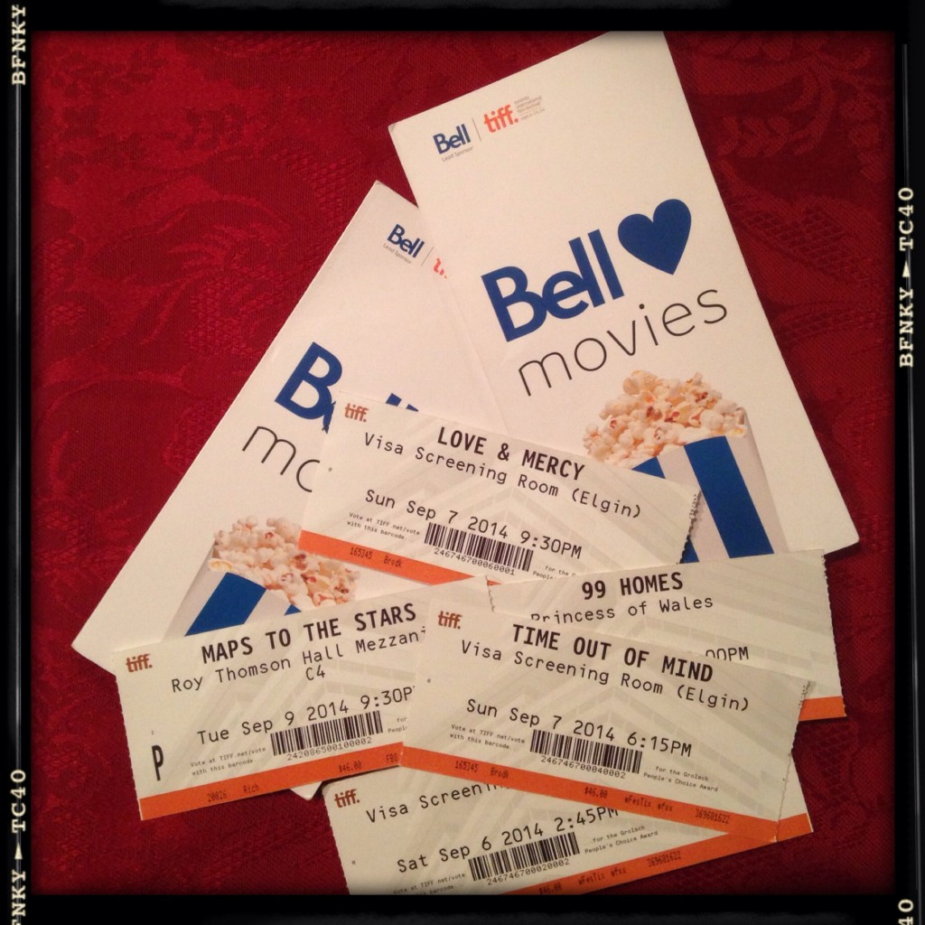 TIFF ticket stubs to some of the films I attended