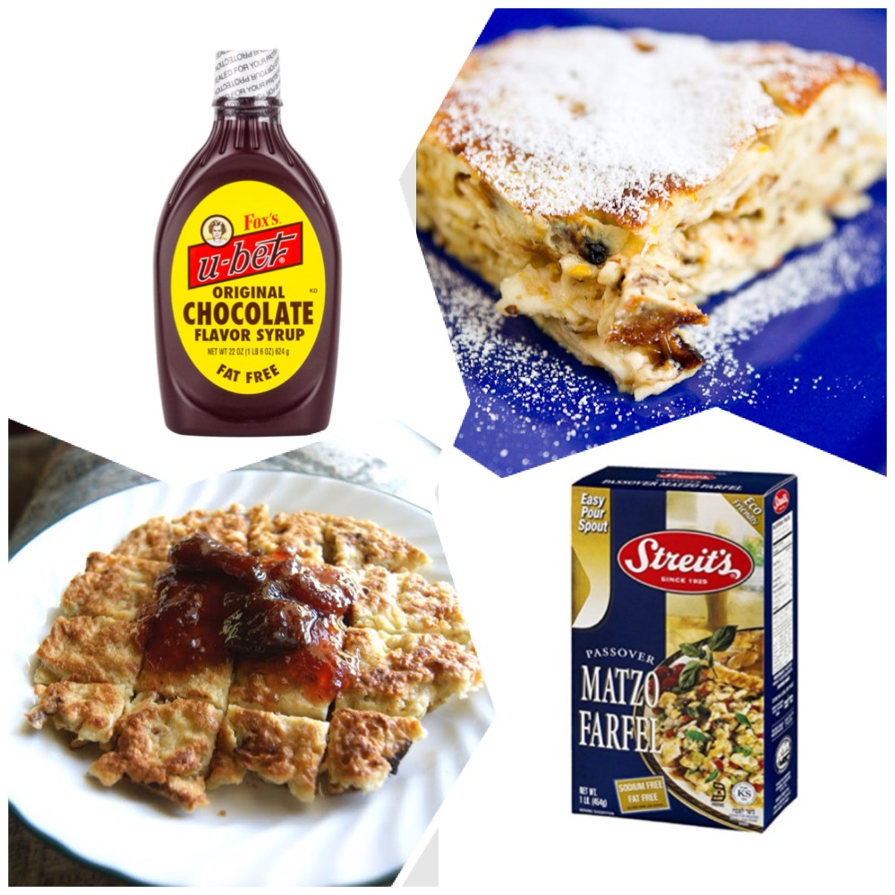 The chocolate milk for the concoction above was made with the ultimate  syrup - Fox's U-bet (it's a bummer that I have not been able to find it the Toronto supermarket shelves for the past few years) & the infamous matzah brei with jam & with sugar!