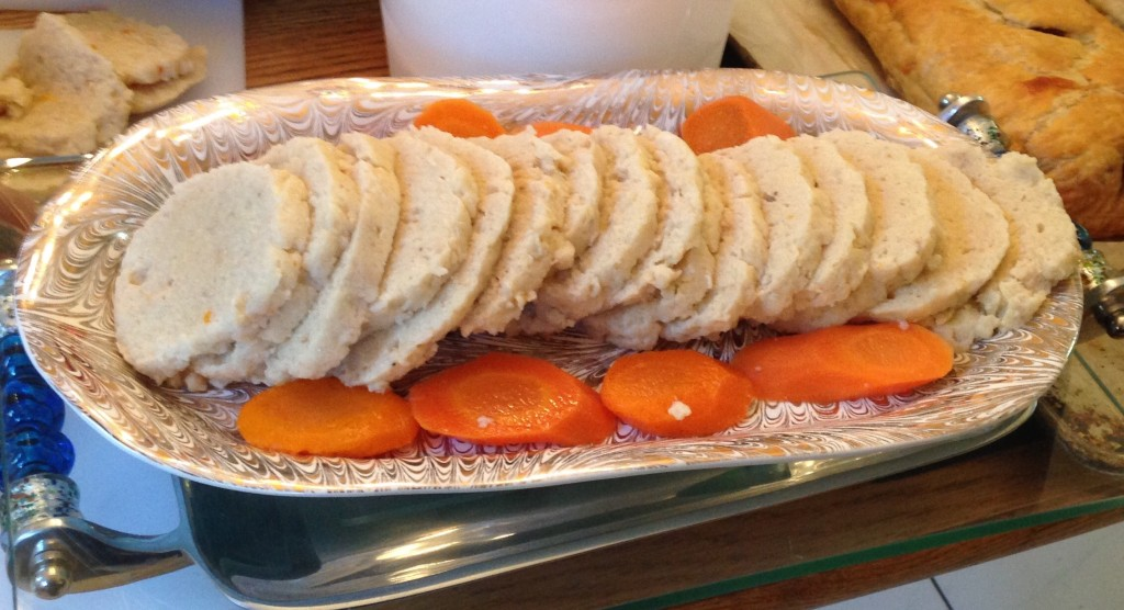 Delicious traditional Gefilte Fish! (Made by the Centre Street Deli in Thornhill, Ontario)
