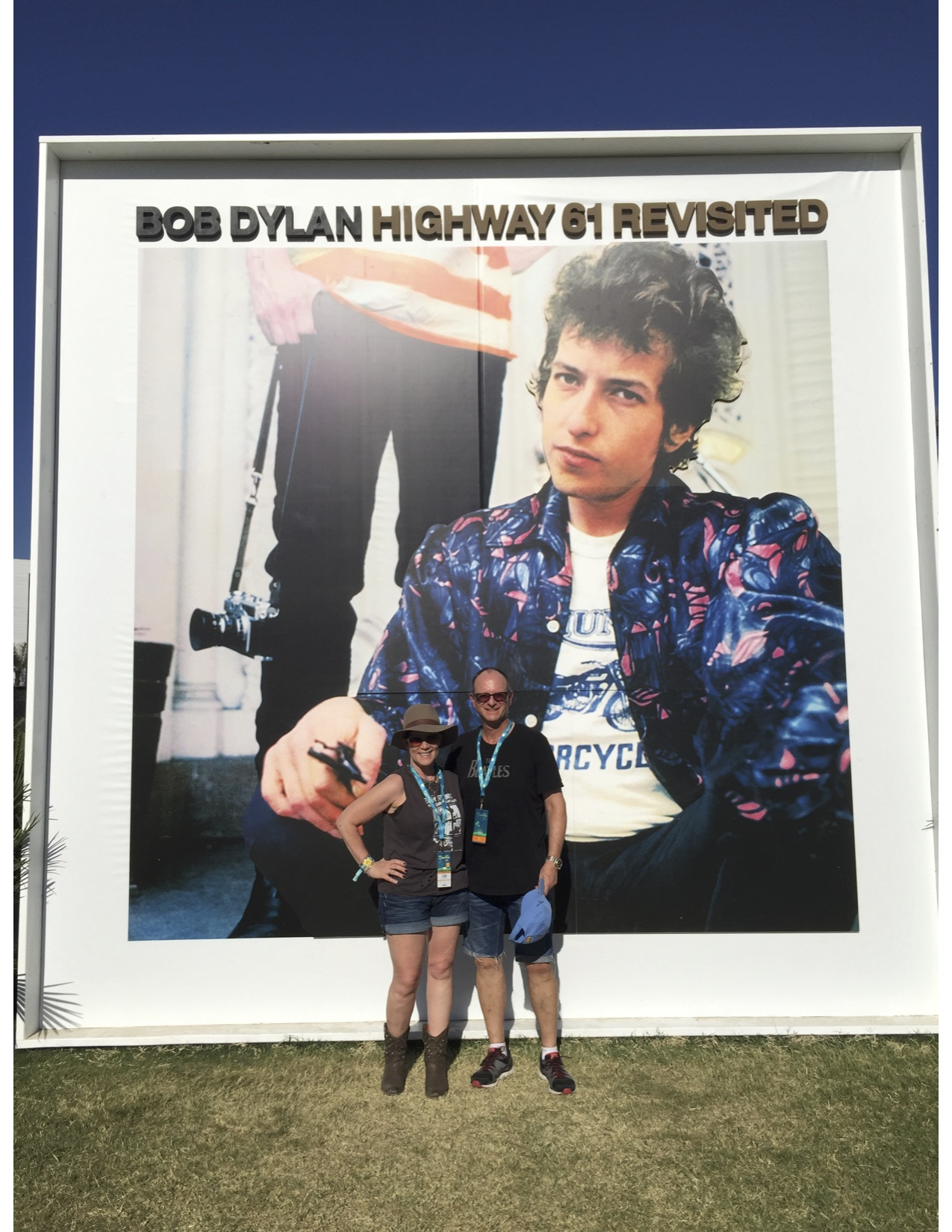 How does it feel; to be on your own; like a complete unknown; like a rolling stone? Bradley & I in front of the Bob Dylan LP out in the field.